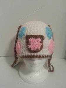 Cinnamoroll Cinnamon the Puppy Character Beanie Hat Crochet Pattern Alt View