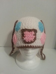 Cinnamoroll Cinnamon the Puppy Character Beanie Hat Crochet Pattern Front View
