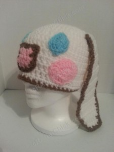 Cinnamoroll Cinnamon the Puppy Character Beanie Hat Crochet Pattern Left Profile View