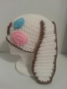 Cinnamoroll Cinnamon the Puppy Character Beanie Hat Crochet Pattern Left Side View