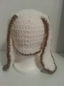 Cinnamoroll Cinnamon the Puppy Character Beanie Hat Crochet Pattern Rear View