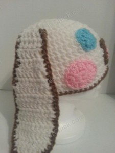 Cinnamoroll Cinnamon the Puppy Character Beanie Hat Crochet Pattern Right Profile View