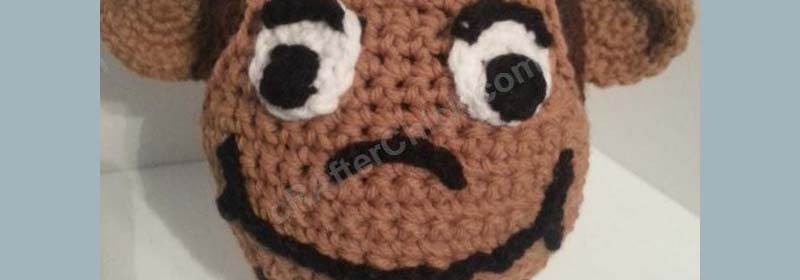 Curious George Beanie Hat for Story Reading Time Crochet Pattern