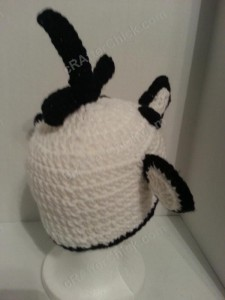 Diary of a Wimpy Kid Greg Beanie Hat Crochet Pattern Left Back View