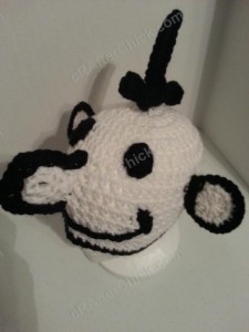 Diary of a Wimpy Kid Greg Beanie Hat Crochet Pattern Left Front View
