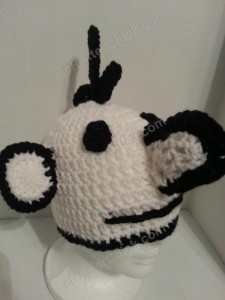 Diary of a Wimpy Kid Greg Beanie Hat Crochet Pattern Right Front View