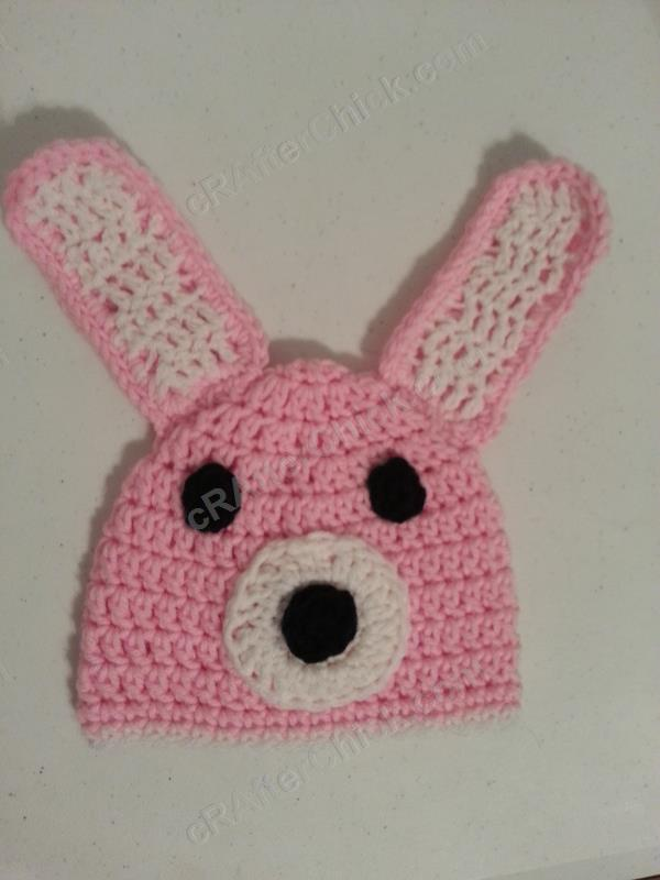 Easy Anime Inspired Bunny Beanie Hat Crochet Pattern Crafterchick