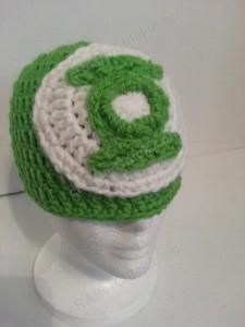 Green Lantern Superhero Logo Beanie Hat Crochet Pattern 1