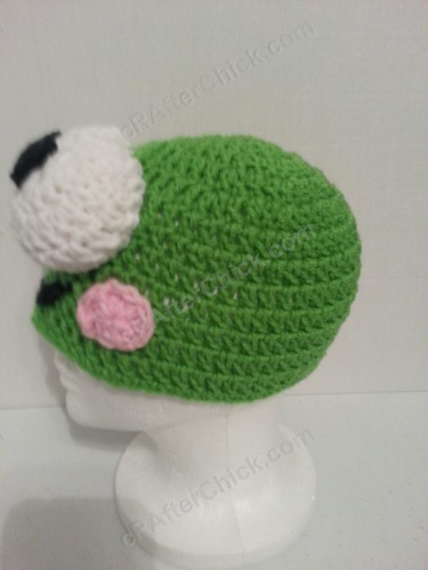 6fb6ddb9c80 Keroppi the Frog Beanie Hat Crochet Pattern » cRAfterchick - Free ...
