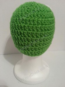Keroppi the Frog Beanie Hat Crochet Pattern Rear View