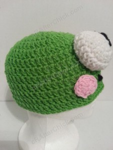 Keroppi the Frog Beanie Hat Crochet Pattern Right Profile
