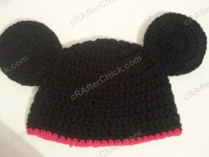 Mickey Mouse Oversized Ears Beanie Hat Crochet Pattern
