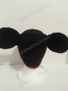 Mickey Mouse Oversized Ears Beanie Hat Crochet Pattern Rear View