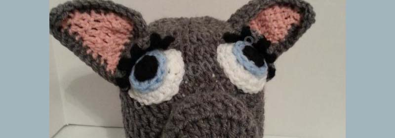 Mother Wolf Beanie Hat Crochet Pattern