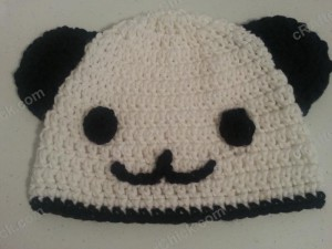 Pankun the Panda Character Beanie Hat Crochet Pattern