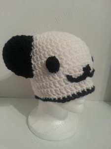 Pankun the Panda Character Beanie Hat Crochet Pattern alternate view