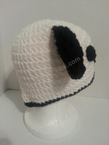 Pankun the Panda Character Beanie Hat Crochet Pattern right back view