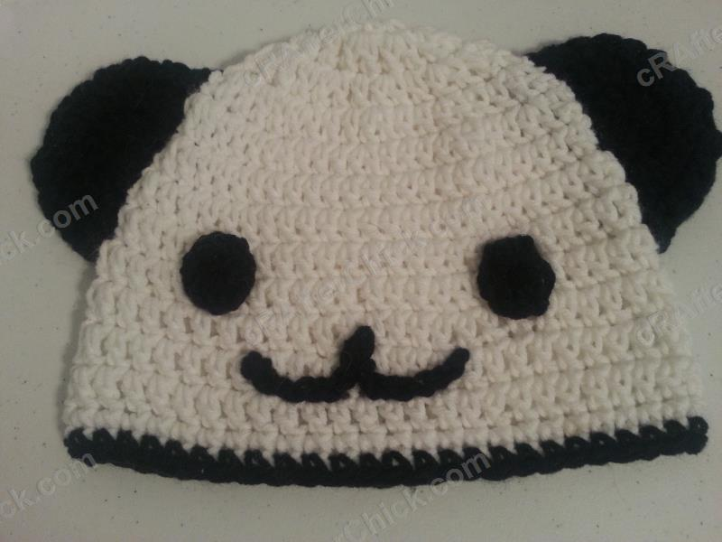 Panda Bear Earflap Hat Crochet Pattern : Pics Photos - Crochet Hat Pattern Panda Bear Animal Pic 13