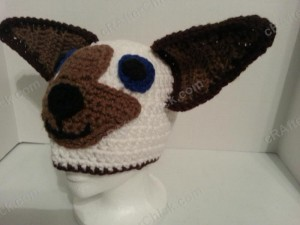 Skippyjon Jones Book Character Beanie Hat Crochet Pattern Front Left View