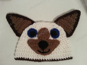 Skippyjon Jones Book Character Beanie Hat Crochet Pattern Laying Flat