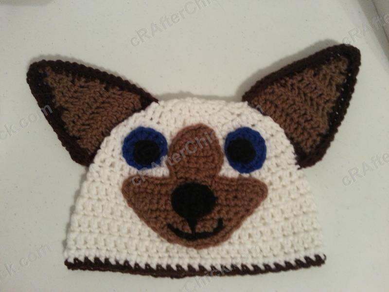 Free Crochet Patterns For Character Hats : Skippyjon Jones Siamese Cat Book Character Beanie Hat ...