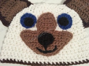 Skippyjon Jones Book Character Beanie Hat Crochet Pattern Zoom In on Face Details