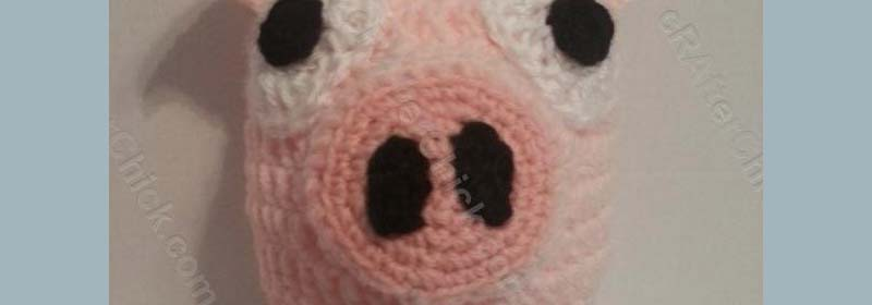 Three Little Pigs Beanie Hat Crochet Pattern