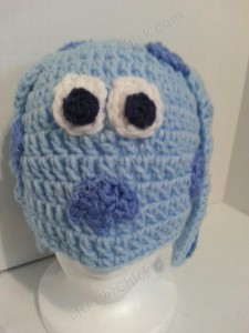 Blues Clues Puppy Character Beanie Hat Crochet Pattern Closeup Worn