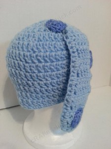 Blues Clues Puppy Character Beanie Hat Crochet Pattern Rear Side View