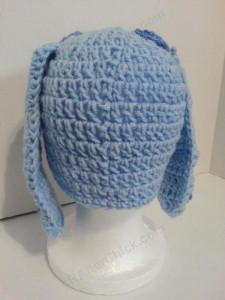 Blues Clues Puppy Character Beanie Hat Crochet Pattern Rear View