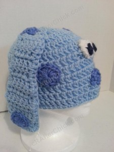 Blue's Clues Puppy Character Beanie Hat Crochet Pattern Right Profile