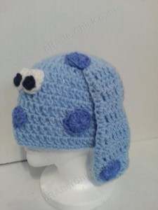 Blues Clues Puppy Character Beanie Hat Crochet Pattern Side view