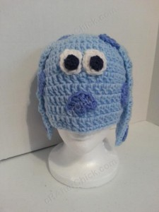 Blues Clues Puppy Character Beanie Hat Crochet Pattern Worn