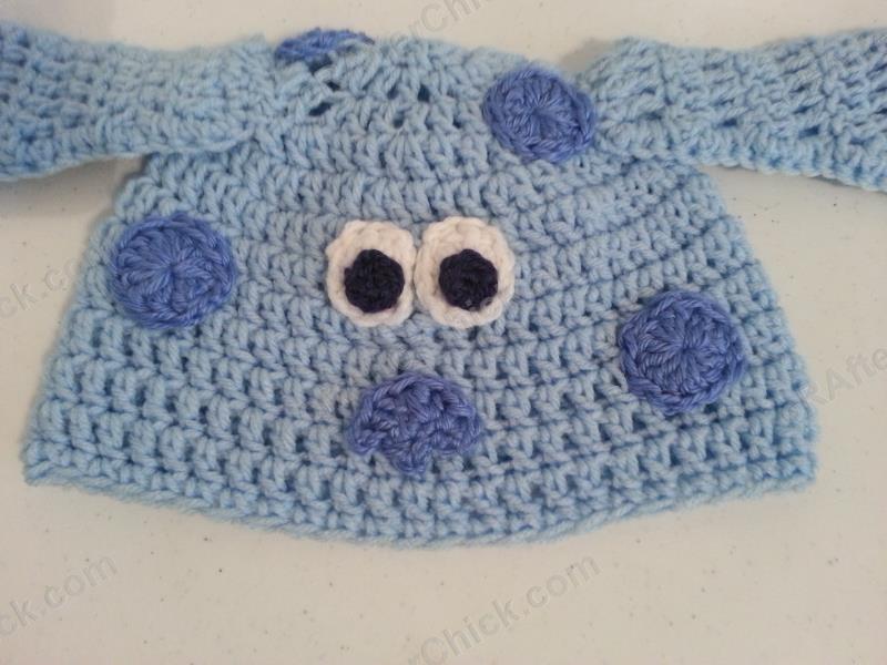 Blues Clues Puppy Character Beanie Hat Crochet Pattern