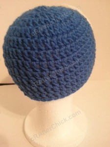 Captain America Superhero Beanie Hat Crochet Pattern Back Right View