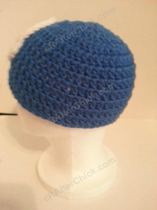 Captain America Superhero Beanie Hat Crochet Pattern Left Side Profile