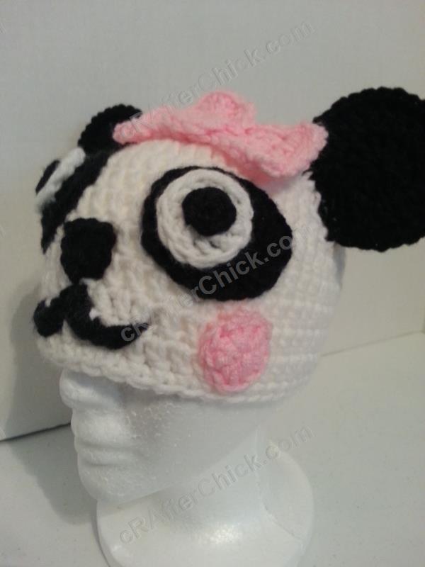 Free Crochet Baby Panda Hat Pattern : Chibi Baby Girl Panda Beanie Hat Crochet Pattern ...