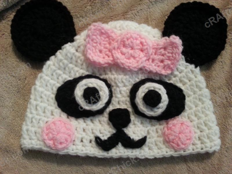 Free Crochet Patterns For Baby Girl Beanie : Chibi Baby Girl Panda Beanie Hat Crochet Pattern ...