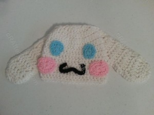 Cinnamoroll the White Puppy Character Beanie Hat Crochet Pattern