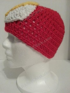 The Flash Superhero Beanie Hat Crochet Pattern Left Profile View
