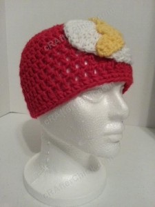 The Flash Superhero Beanie Hat Crochet Pattern Front Right View