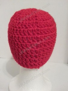 The Flash Superhero Beanie Hat Crochet Pattern Rear View