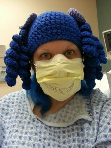 Arthritis Awareness Curly Pigtail Beanie Hat Crochet Pattern (7) at hospital