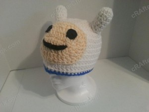 Adventure Time's Finn Character Hat Crochet Pattern (3)