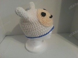 Adventure Time's Finn Character Hat Crochet Pattern (8)
