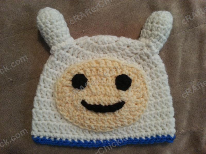Free Crochet Patterns For Character Hats : Adventure Times Finn Character Hat Crochet Pattern ...