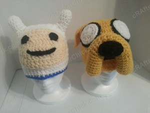 Adventure Time's Finn and Jake Character Hats Crochet Pattern