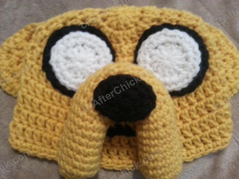 Free Crochet Patterns For Character Hats : Adventure Times Jake the Dog Character Hat Crochet ...