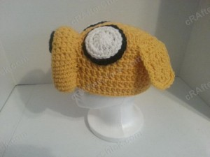 Adventure Time's Jake the Dog Character Hat Crochet Pattern (5)