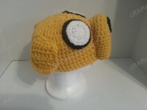 Adventure Time's Jake the Dog Character Hat Crochet Pattern (7)